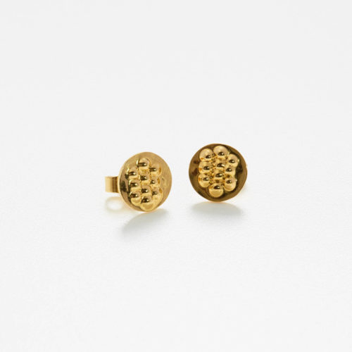 Earstuds Tusci Volterra in polished gold