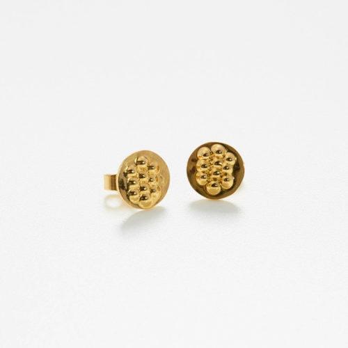 Ohrstecker Tusci Volterra aus poliertem Gold