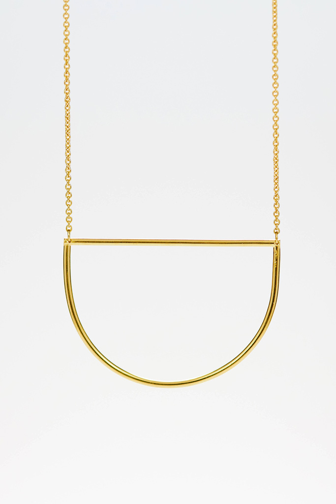 Circles necklace in silver gold plated