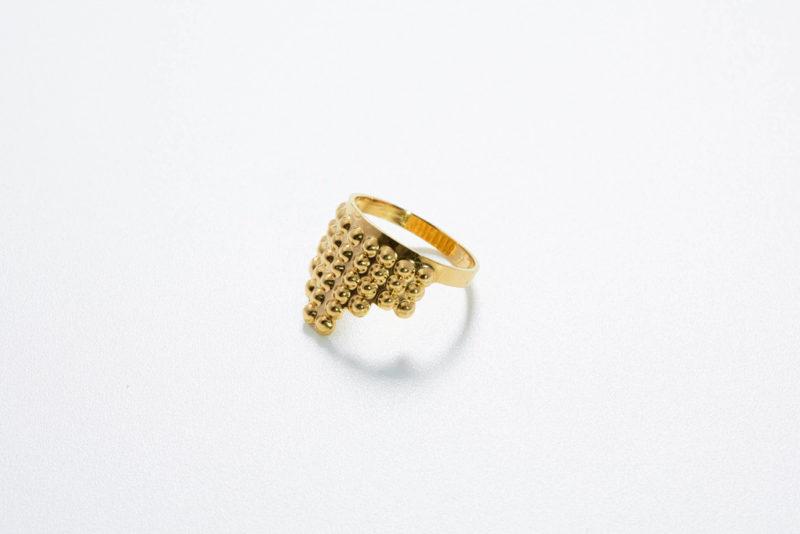 Ring Tusci Volterra aus Gold poliert