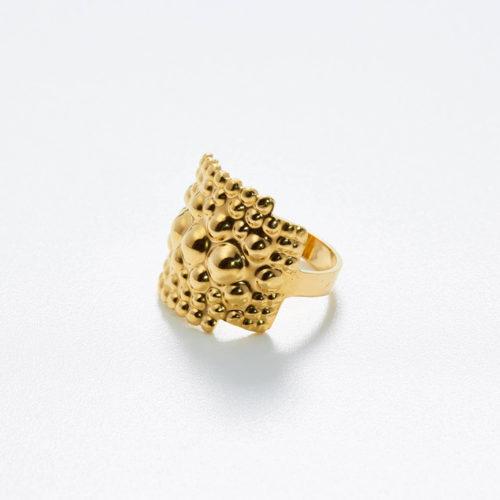 Ring Tusci Perugia aus Gold poliert