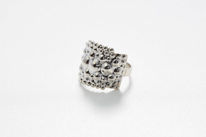 Ring Tusci Perugia polished silver
