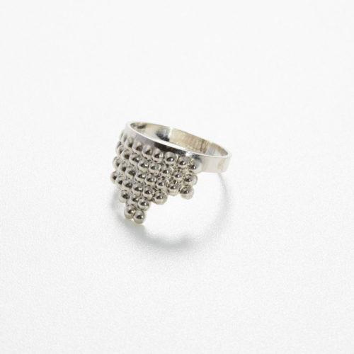Ring Tusci Volterra aus Silber poliert
