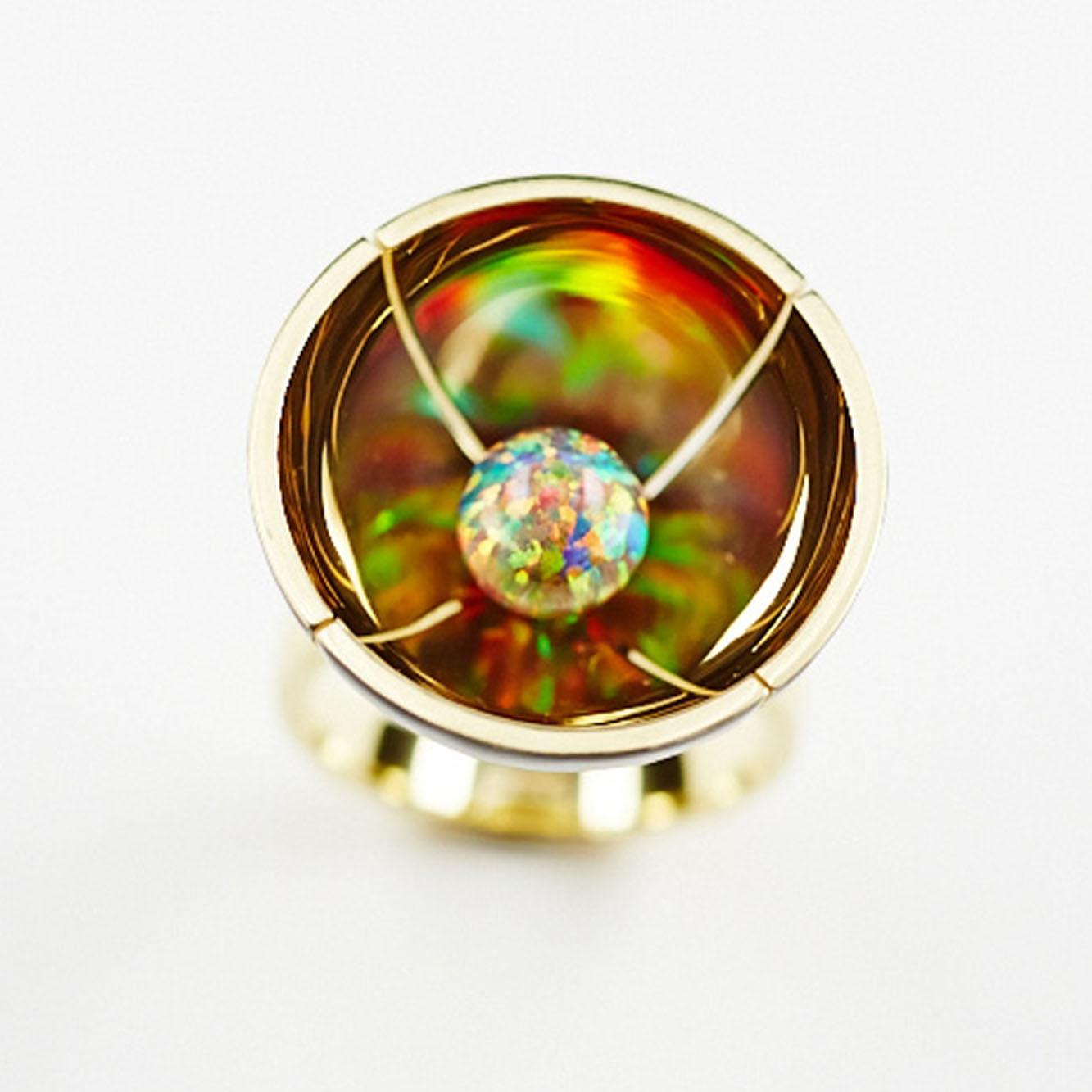 Papaver ring gold