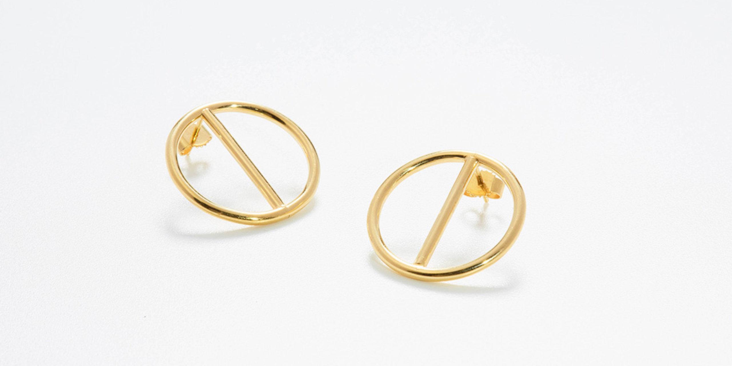 Circles Ohrstecker gold