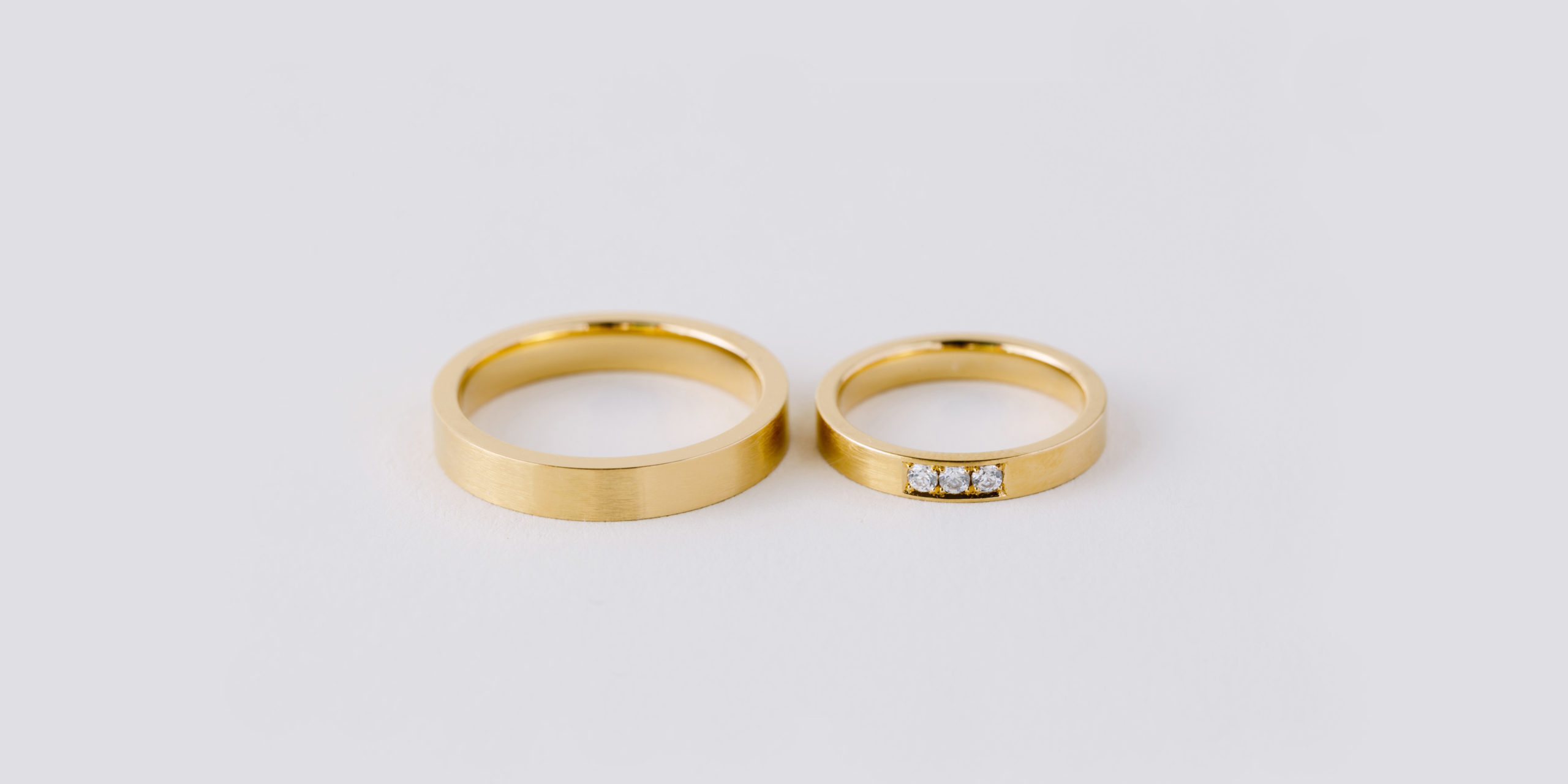 Ringpaar Cubic gold